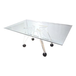 Mid-Century Modern Lucite & Glass Table Base