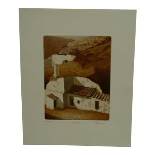 """Vintage Perry Macon Oliver """"Guadix"""" Print"""
