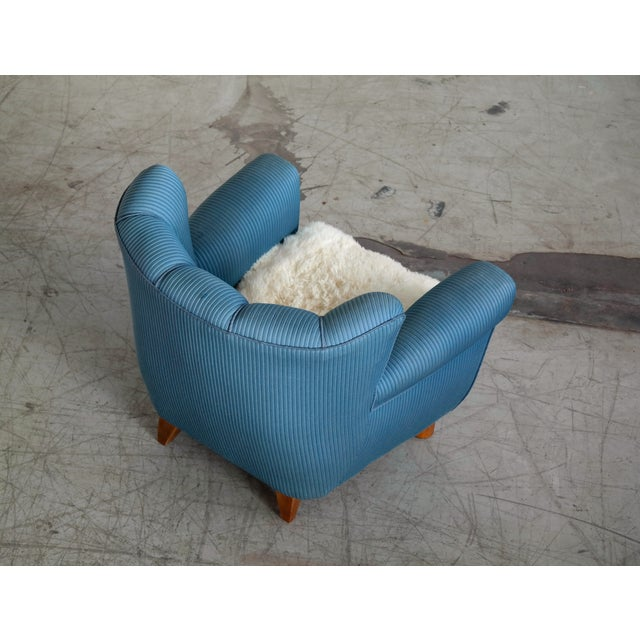 Flemming Lassen 1940s Danish Boesen and Lassen Attributed Lounge Chair For Sale - Image 4 of 10
