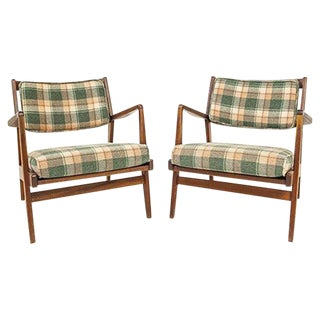 Jens Risom Lounge Chairs - Pair For Sale