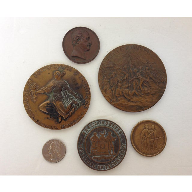 Vintage Medal Medallions & Paperweights - Set of 5 - Image 3 of 9