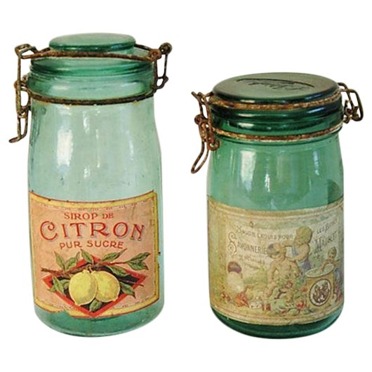 Early 1900s French Preserve Canning Jars - A Pair - Image 1 of 7
