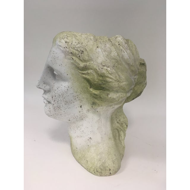 2010s Moss Venus Bust Head Planter For Sale - Image 5 of 8