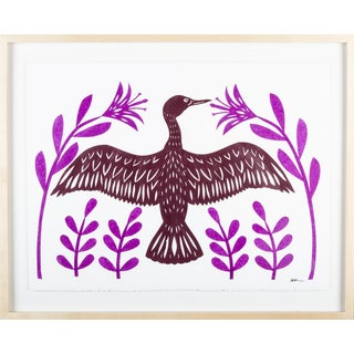Stacey Elaine Sunning Cormorant Collage For Sale