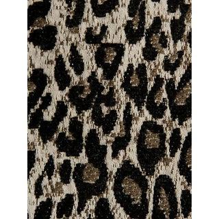 Scalamandre Leopard Print Black Fabric For Sale