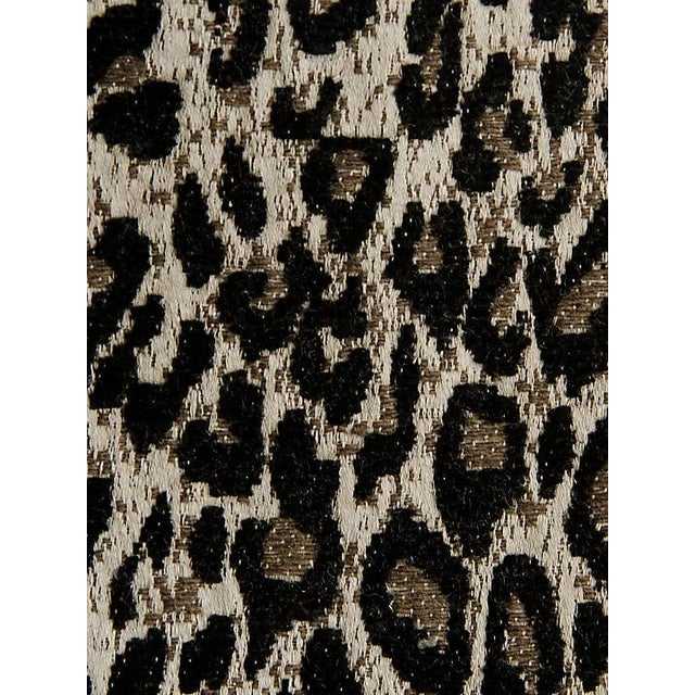 Scalamandre Leopard Print Black Fabric For Sale