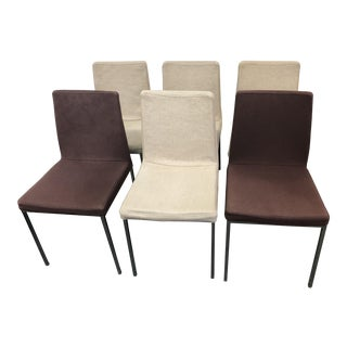 Contemporary Chrome Dining Chairs by Brass, Set of Six For Sale