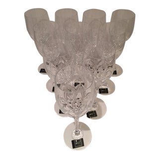Mikasa Petit Points Cut/Etched Lead Crystal Goblets - Set of 10 For Sale
