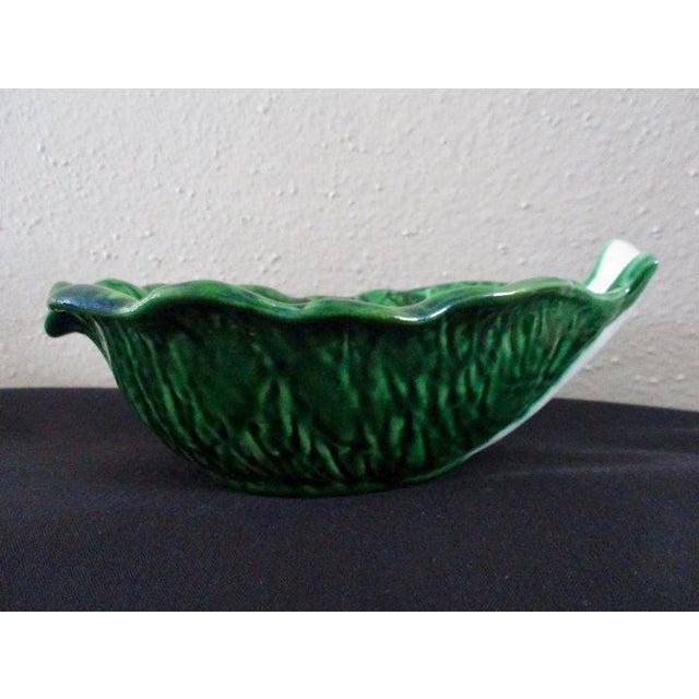 Mediterranean Vintage Cabbage Leaf Bowls From Portugal - Set of 4 For Sale - Image 3 of 6