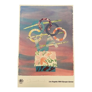 "Billy Al Bengston ""Los Angeles 1984 Olympic Games"" Limited Edition Signed Poster For Sale"