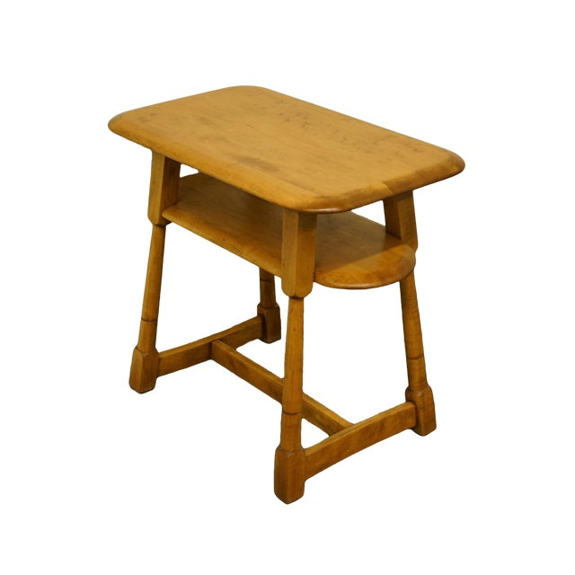"""Mid Century Modern Solid Hard Rock Maple 25x15"""" End Table For Sale"""