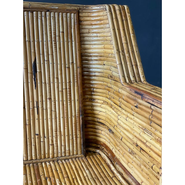 Wood Vintage Bamboo Sofa For Sale - Image 7 of 10
