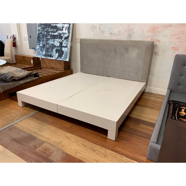 2010s Eastern King Donghia Ginger Fabric Upholstered Platform Bed For Sale - Image 5 of 11
