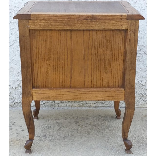 20th Century French Provincial Oak Nightstand For Sale - Image 4 of 11