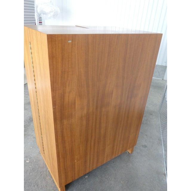 Wood 1970's Danish Modern Teak Secretary Desk For Sale - Image 7 of 11