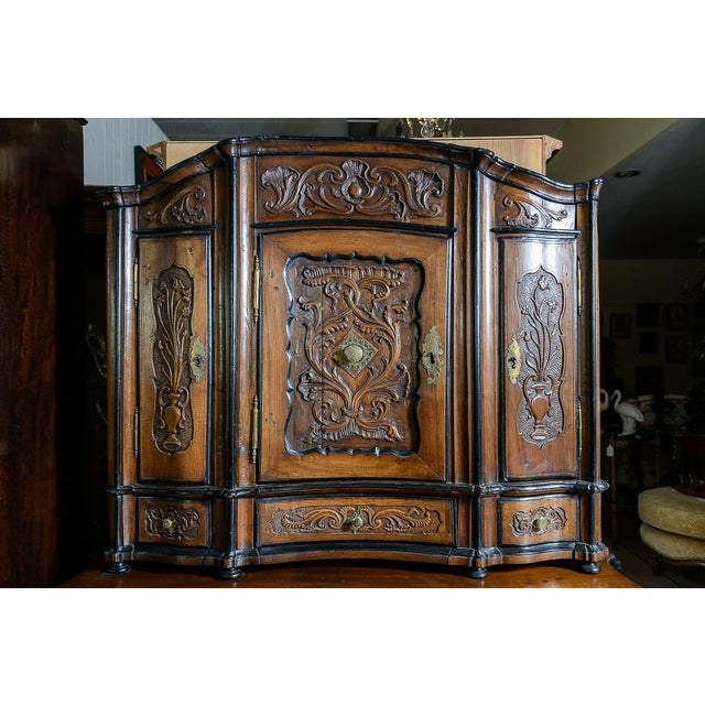 Mid 18th Century Portuguese Cabinet With Four Seasons Carving For Sale - Image 5 of 10
