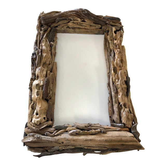 Handcrafted Reclaimed Botany Bay Driftwood Frame For Sale