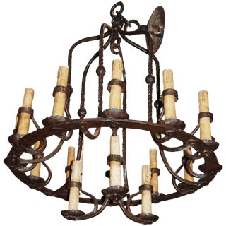 Bell Shaped Iron Chandelier