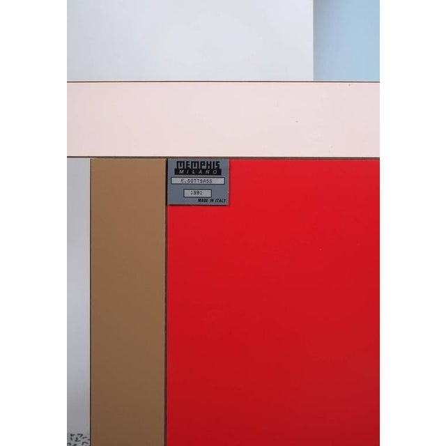 Memphis Group Carlton Bookcase Roomdivider by Ettore Sottsass for Memphis, 1981 For Sale - Image 4 of 6