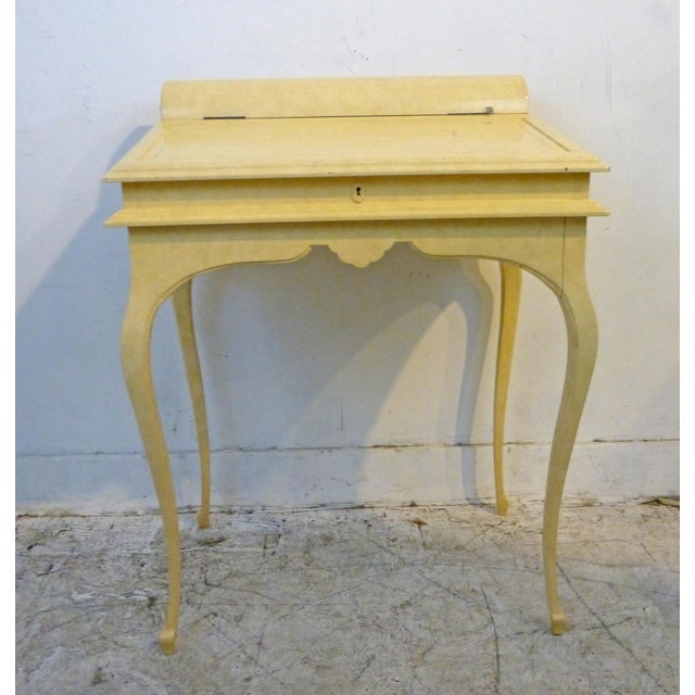Creamy Lacquered Writing Desk - Image 2 of 8