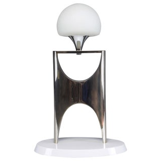 Mid 20th Century Sculptural Aluminum Table Lamp, 1950-1960 For Sale