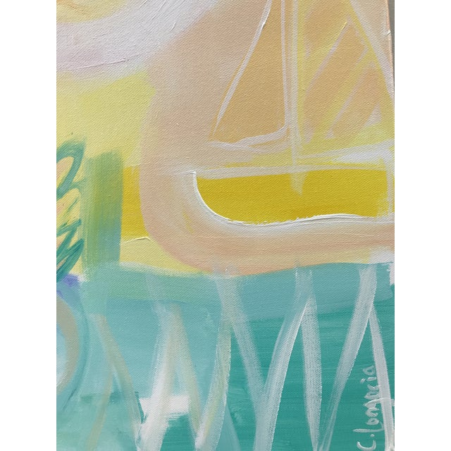 """""""Pineapple Punch"""" by abstract artist Christina Le Sesne Longoria. Original artwork completed in 2019, this piece is brand..."""