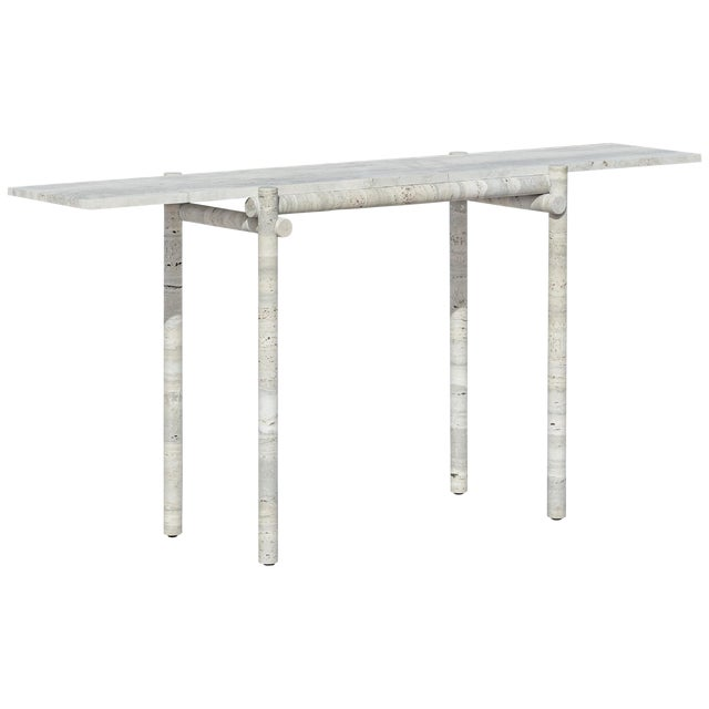 Original Ocean Travertine Console by Clement Brazille For Sale