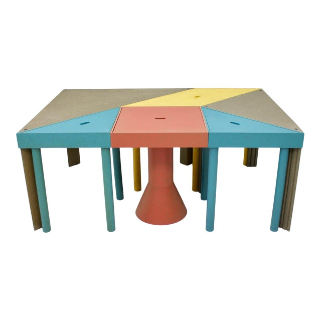 Set of Six Tangram Tables by Massimo Morozzi for Cassina, 1983 For Sale