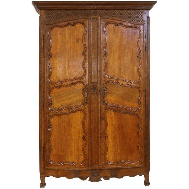 Large 18th Century French Walnut Armoire For Sale In Dallas - Image 6 of 6