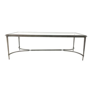 Organic Modern Sherrill Co. Metal and Glass Cocktail Table For Sale