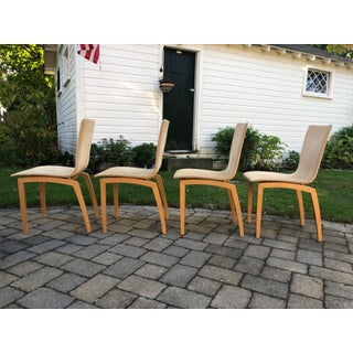 1990s Vintage Ligne Roset Suede Dining Chairs - Set of 4 Preview