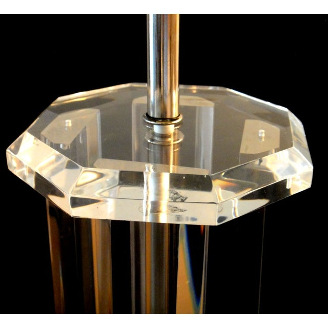 Lucite Floor Lamps - A Pair - Image 4 of 7