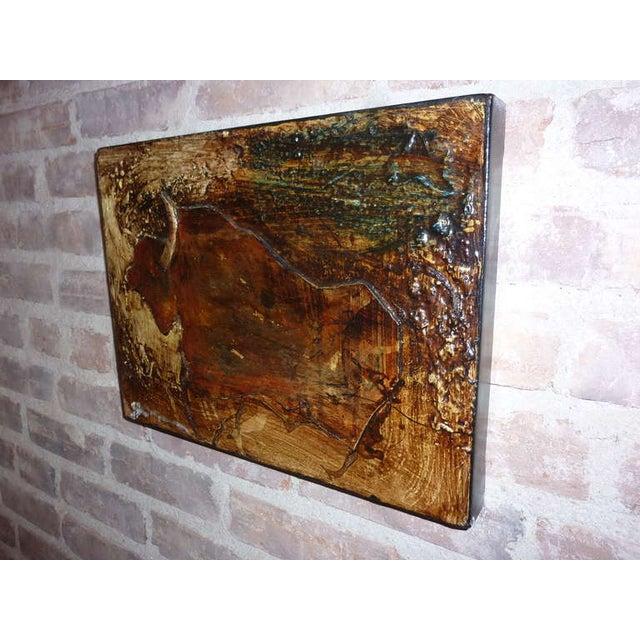 Michael Gorman Bull Painting - Image 3 of 4