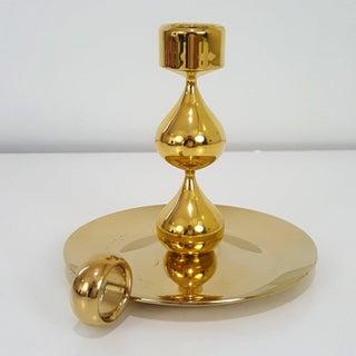 Hugo Asmussen Design Denmark 24k Gold Plated Candle Holder Preview