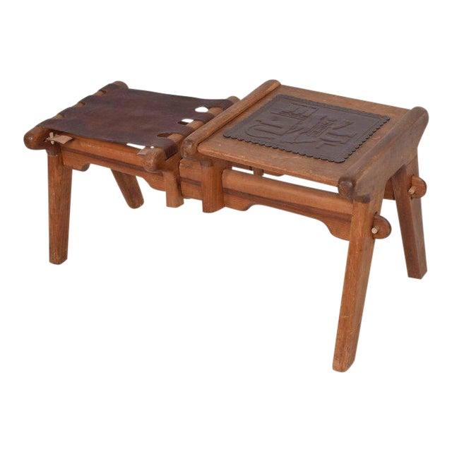 Mid-Century Modern Angel Pazmino Telephone Table Stool For Sale