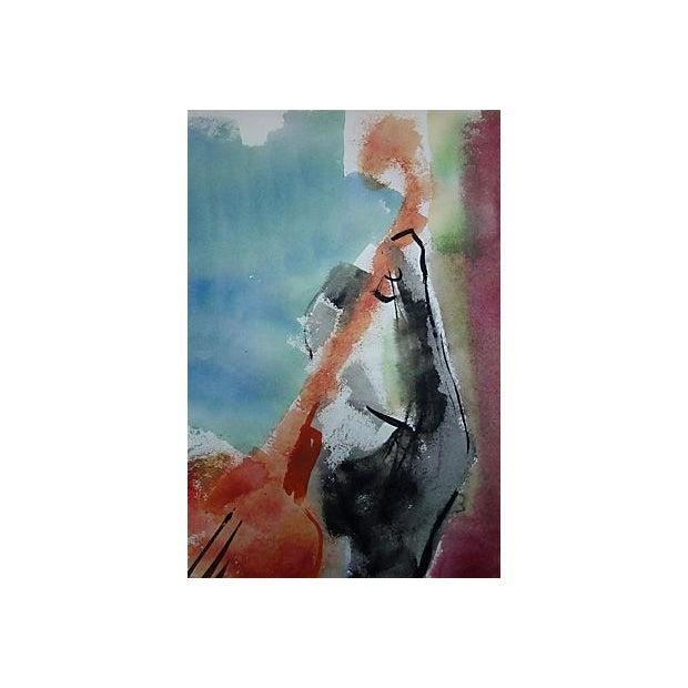 Andante Violin Watercolor Painting - Image 2 of 5