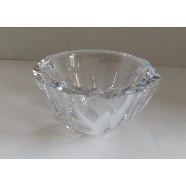 Orrefors Sweden Small Cut Crystal Bowl For Sale - Image 12 of 12