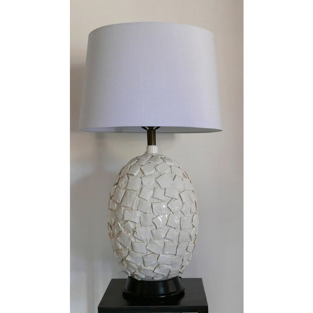 Ceramic Lamp With Applied Squares For Sale In Palm Springs - Image 6 of 6