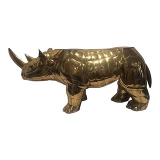 Sergio Bustamante Rhino Sculpture Table Base