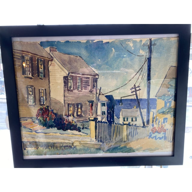 1950s 1950s Collection of Watercolors by Walter Killam - Set of 15 For Sale - Image 5 of 11