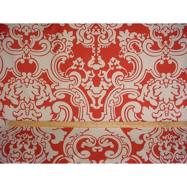 French Scalamandre Brentwood Coral Sand French Damask Upholstery Fabric - 6 Yards For Sale - Image 3 of 5