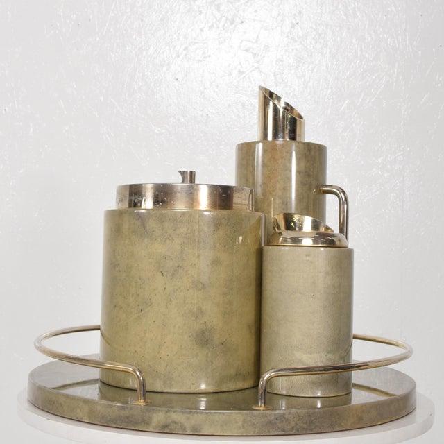 Mid-Century Modern Aldo Tura Bar Set For Sale - Image 11 of 11