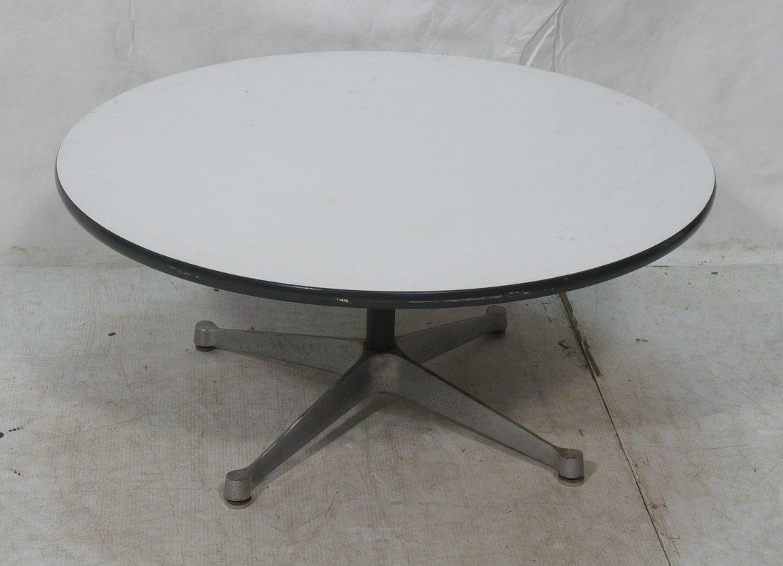 Fantastic Herman Miller Pedestal Coffee Or Cocktail Table With White  Laminate Top. The Simple Clean