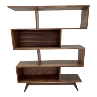 Contemporary Staggered Wall Bookcase For Sale