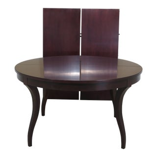 Baker Round Mahogany Modern Design Dining Table For Sale