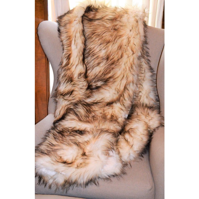 Wild Mannered Faux Fur Bleached Finn Throw For Sale - Image 10 of 11