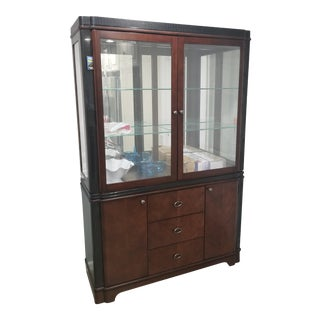 2-Piece Lighted China Cabinet