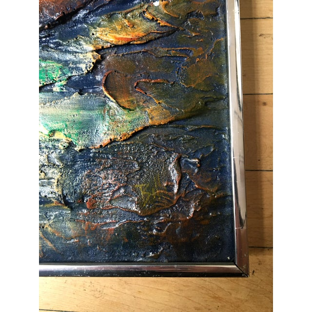 1960s Figurative Painting of Impasto Sailing Ship For Sale In New York - Image 6 of 7