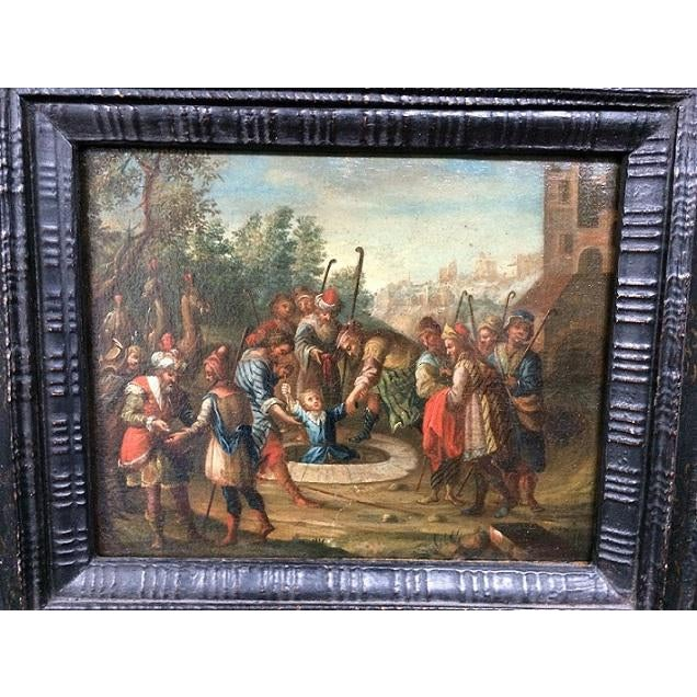Religious 18th Century Dutch Painting For Sale - Image 3 of 5