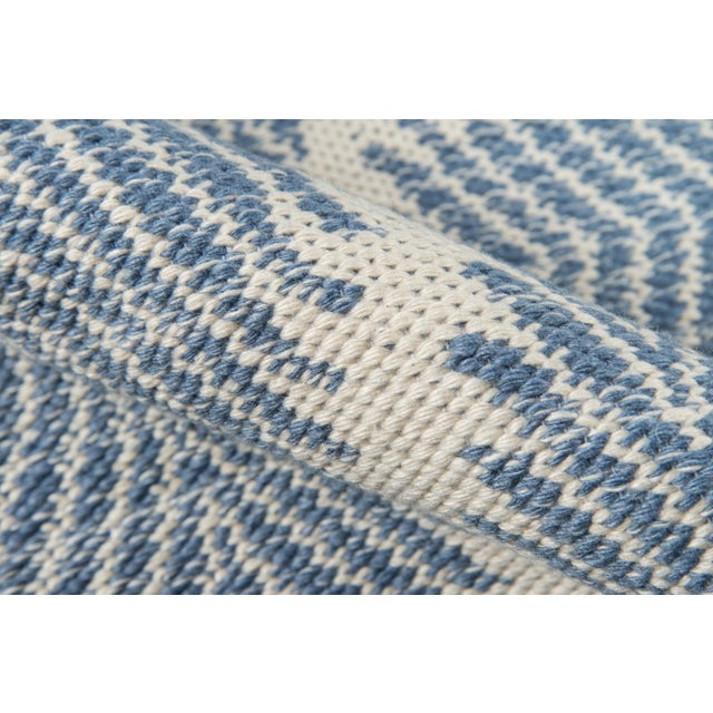 """Erin Gates by Momeni River Beacon Denim Indoor Outdoor Hand Woven Area Rug - 5' X 7'6"""" For Sale - Image 4 of 7"""